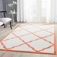 Safavieh Indoor/ Outdoor Amherst Beige/ Orange Rug - 8' x 10'