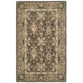 Safavieh Handmade Anatolia Oriental Brown/ Beige Hand-spun Wool Rug (3' x 5')