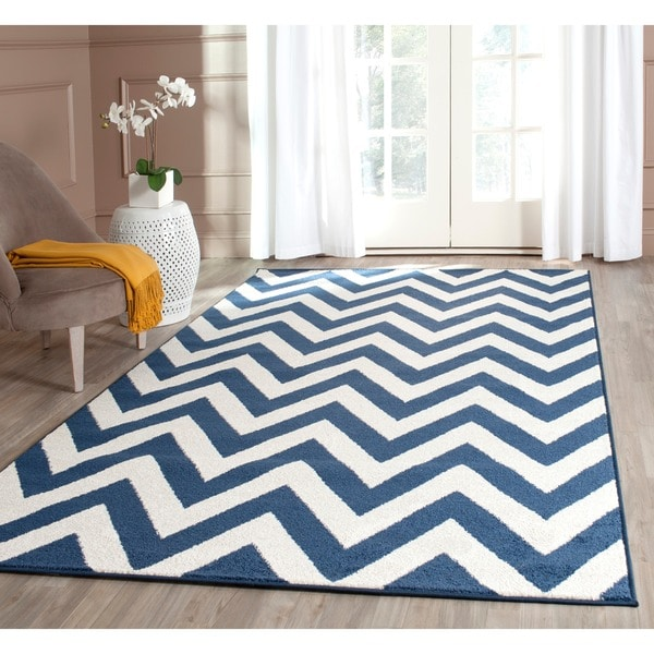 Safavieh Indoor Outdoor Amherst Navy Beige Rug 8 X 10