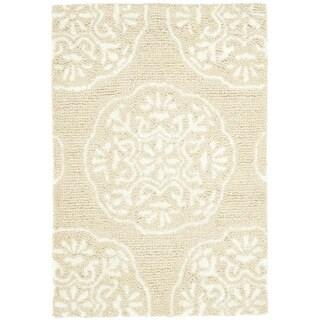 Safavieh Handmade Bella Beige/ White Wool Rug (2' x 3')