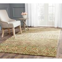 Safavieh Hand-knotted Bohemian Green/ Brown Jute Rug - 5' x 8'
