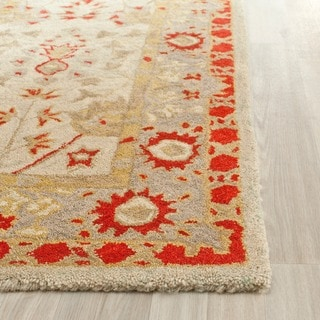 Safavieh Handmade Anatolia Antoinette Traditional Oriental Hand-spun Wool Rug (3 x 5 - Ivory/Light Green)