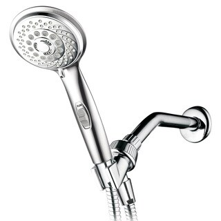 HotelSpa 7 Settings Hand Shower with Pause Switch, Extra Long Hose, and Angle Adjustable Bracket
