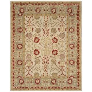 Safavieh Handmade Anatolia Antoinette Traditional Oriental Hand-spun Wool Rug (8 x 10 - Ivory/Light Green)