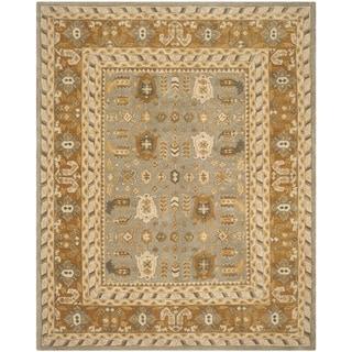 Safavieh Handmade Anatolia Clementine Traditional Oriental Hand-spun Wool Rug (6 x 9 - Light Grey/Gold)