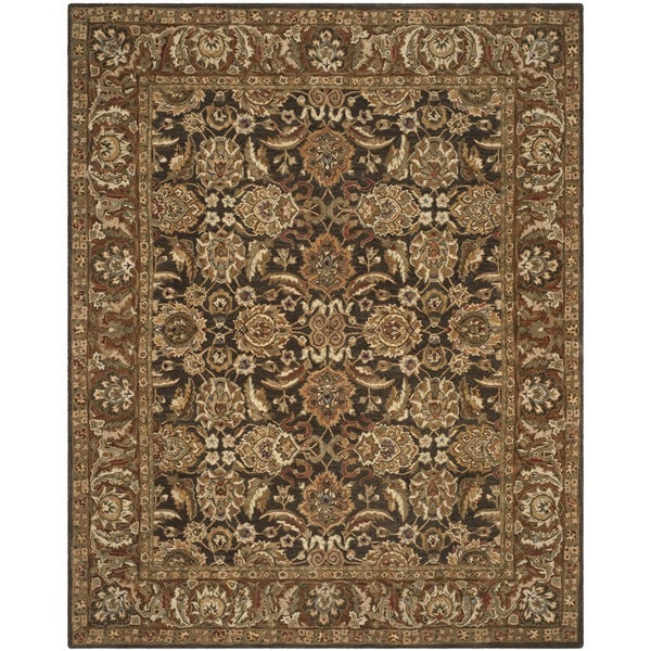Safavieh Handmade Anatolia Oriental Dark Brown/ Gold Hand-spun Wool Rug - 8' x 10'