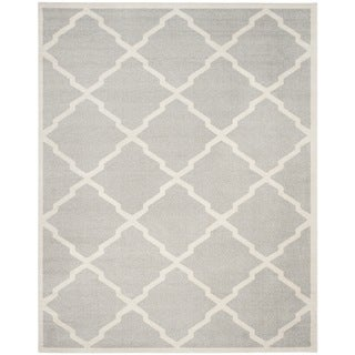 Safavieh Indoor/ Outdoor Amherst Light Grey/ Beige Rug (10' x 14')
