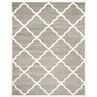 Safavieh Indoor/ Outdoor Amherst Dark Grey/ Beige Rug (10' x 14')