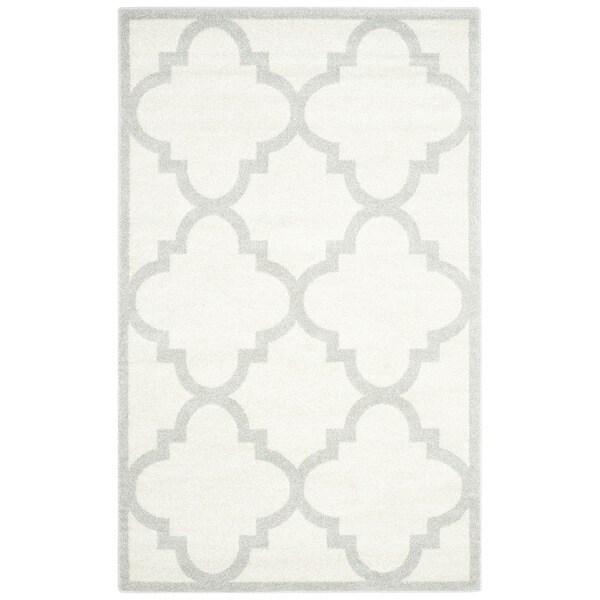 Safavieh Indoor/ Outdoor Amherst Beige/ Light Grey Rug (10' x 14')
