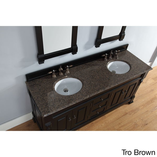 72-inch Brookfield Antique Black Double Vanity - Free Shipping Today -  Overstock.com - 16762913 - 72-inch Brookfield Antique Black Double Vanity - Free Shipping