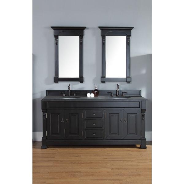 72-inch Brookfield Antique Black Double Vanity - 72-inch Brookfield Antique Black Double Vanity - Free Shipping