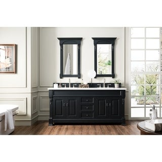 72 inch brookfield antique black double vanity