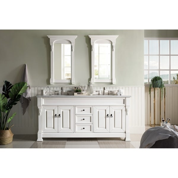 "Brookfield 72"" Double Cabinet, Cottage White"
