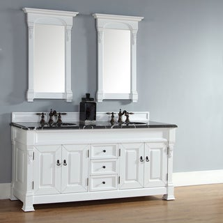 James Martin Furniture Brookfield 72-inch Cottage White Double Vanity cabinet