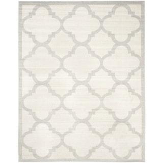 Safavieh Indoor/ Outdoor Amherst Beige/ Light Grey Rug (9' x 12')