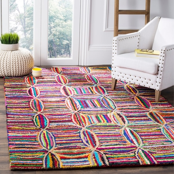 Safavieh Handmade Nantucket Modern Abstract Multicolored Cotton Rug - 6' x 9'