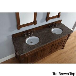 72-inch Brookfield Country Oak Double Vanity