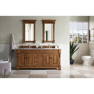 72 inch Brookfield Country Oak Double VanitySize Double Vanities Bathroom Vanities   Vanity Cabinets   Shop  . Double Sink Bathroom Vanities And Cabinets. Home Design Ideas