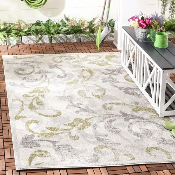 Safavieh Indoor/ Outdoor Amherst Ivory/ Light Grey Rug - 9' x 12'