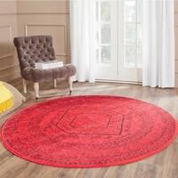 Safavieh Adirondack Vintage Red/ Black Rug - 6' Round