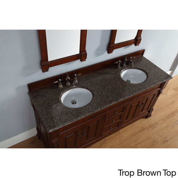 james martin furniture 72inch brookfield warm cherry double vanity with marble top free shipping today