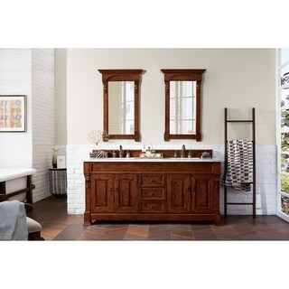 """Brookfield 72"""" Double Cabinet, Warm Cherry"""