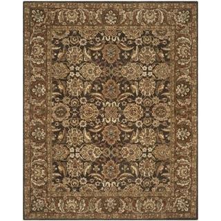 Safavieh Handmade Anatolia Oriental Dark Brown/ Gold Hand-spun Wool Rug (9' x 12')