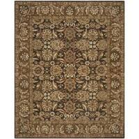 Safavieh Handmade Anatolia Oriental Dark Brown/ Gold Hand-spun Wool Rug - 9' x 12'