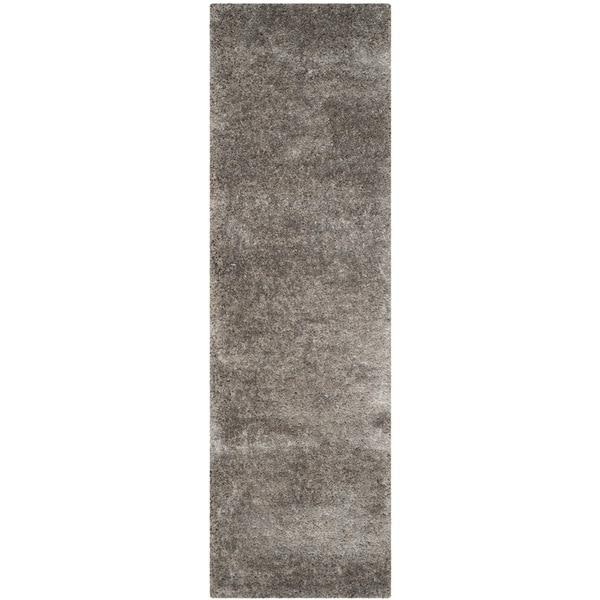 Safavieh Handmade South Beach Shag Silver Polyester Rug (2'3 x 8')