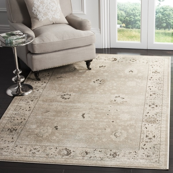 Safavieh Vintage Oriental Light Grey Ivory Distressed Rug 8 X27 X 11