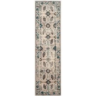 Safavieh Serenity Cream/ Turquoise Rug (2'3 x 8')