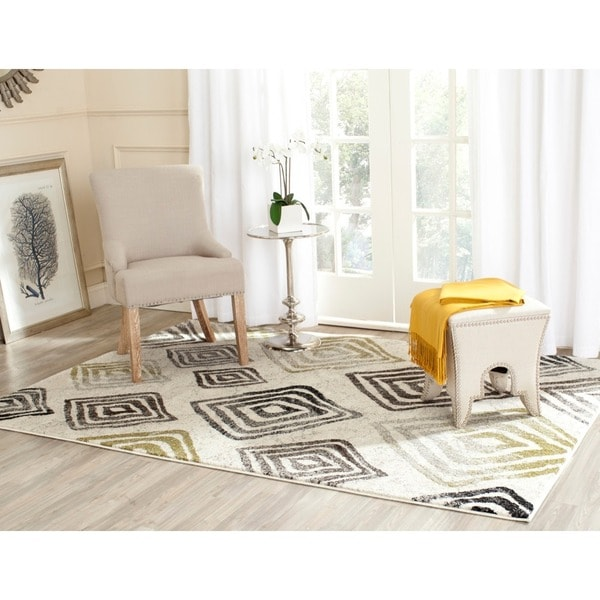 Safavieh Porcello Contemporary Geometric Ivory/ Brown Rug - 8' x 11'2""