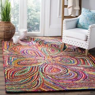 Safavieh Hand-Tufted Nantucket Multi Cotton Rug (8' x 10')