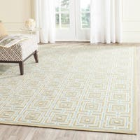 Safavieh Hand-hooked Newport Olive/ Light Blue Cotton Rug (7'9 x 9'9)
