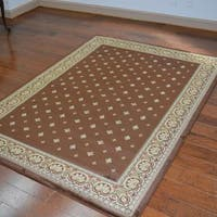 Traditional Oriental Chocolate Area Rug - 7'10 x 10'10