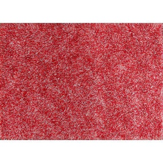 Stylish and Beautiful Red Shag Solid Area Rug (4' x 6')