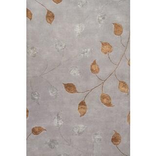 Handmade Elegant Wool and Silk Floral Area Rug (8' x 10')