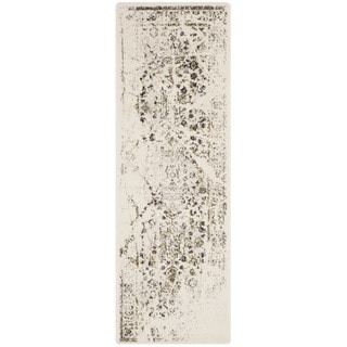 Safavieh Porcello Distressed Ivory/ Light Grey Runner Rug (2'4 x 6'7)