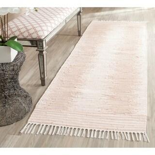 Safavieh Hand-woven Montauk Beige Cotton Rug (2'6 x 6')