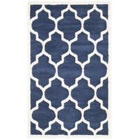 Safavieh Indoor/ Outdoor Amherst Navy/ Beige Rug - 3' x 5'