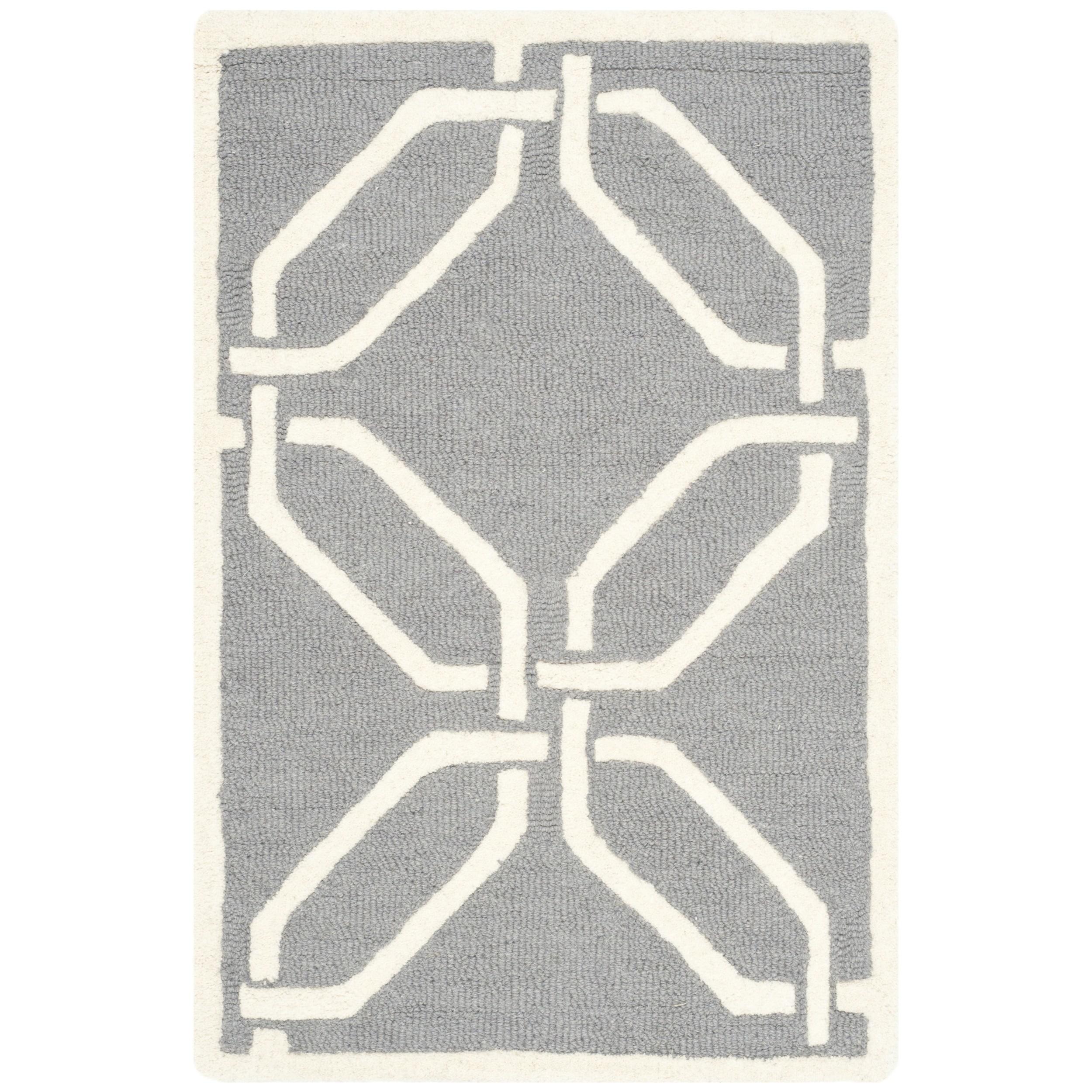 Safavieh Handmade Moroccan Cambridge Dark Grey/ Ivory Woo...