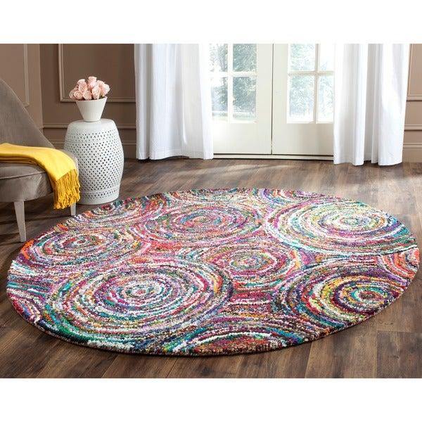 Safavieh Hand-Tufted Nantucket Multi Cotton Rug (4' Round