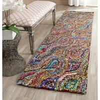 Safavieh Hand-Tufted Nantucket Multi Cotton Rug - 2'3 x 7'