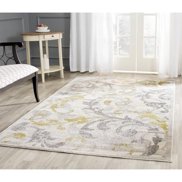 Safavieh Indoor/ Outdoor Amherst Ivory/ Light Grey Rug - 8' x 10'