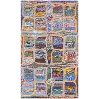 Safavieh Handmade Nantucket Modern Abstract Multicolored Cotton Rug - multi - 2' x 3'
