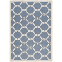 Safavieh Courtyard Moroccan Blue/ Beige Indoor/ Outdoor Rug - 8' x 11'