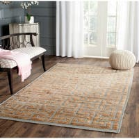 Safavieh Hand-knotted Tangier Grey/ Beige Wool/ Jute Rug - 5' x 8'