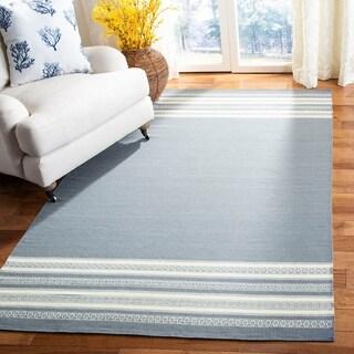 Safavieh Hand-woven Dhurries Grey Wool Rug (3' x 5')