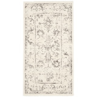 Safavieh Porcello Oriental Distressed Ivory/ Light Grey Rug (2' x 3'7)