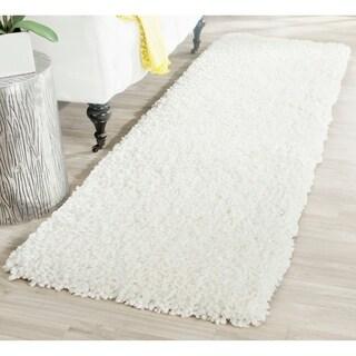 Safavieh Handmade Popcorn Shag Ivory Polyester Rug (2'3 x 7')